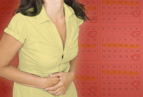 How early can a young girl get her first PMS symptoms?