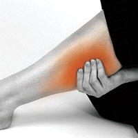 What's a way to ease the pain in my calves?