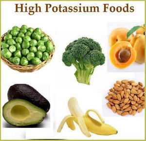 Food recommended for high blood pressure person..
