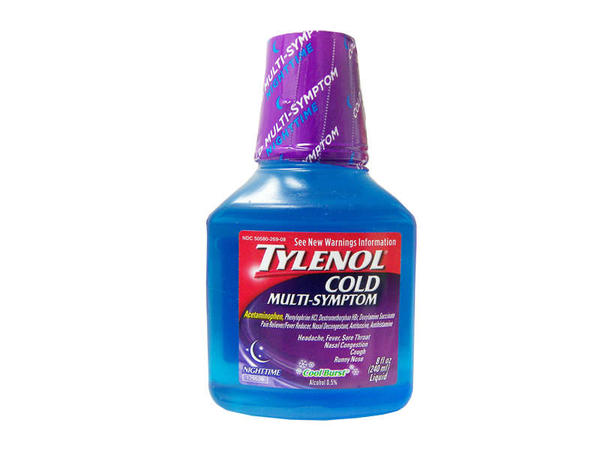 Can a child under 12 weighing 128lbs take the recommended adult dose of tylenol (acetaminophen) cold multi symptom nighttime?