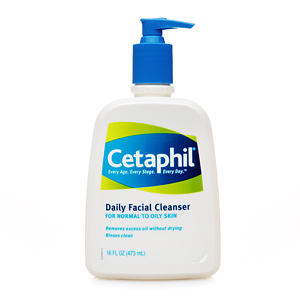 What is the best over-the-counter facial cleanser for dry, acne-prone skin?