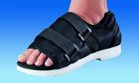 How is the post surgery in a case in which a bone spur is shaved down on the top midfoot?