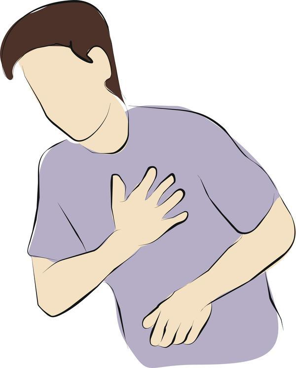 Chest pain for about 5 months now. It comes and goes?