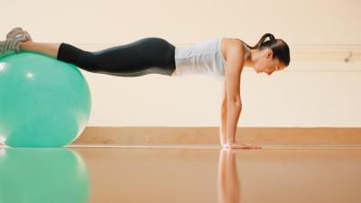 Can you recommend a good exercise for the tummy that is gentle on the back?