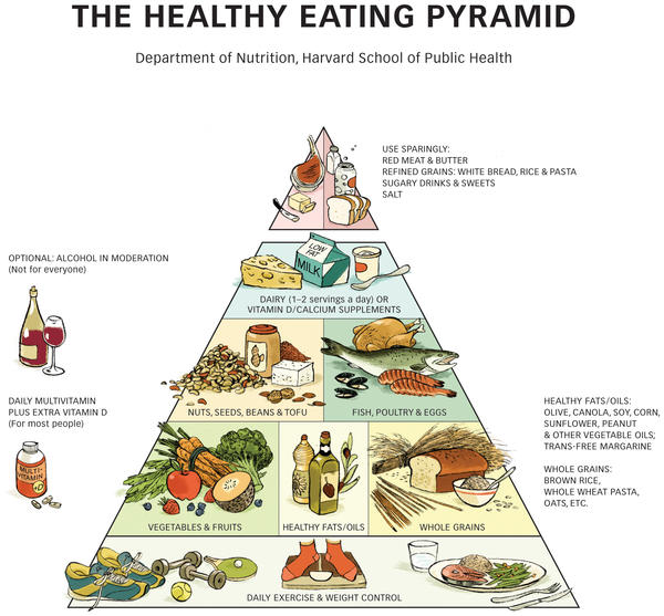 What are the healthy foods on the whole food pyramid?