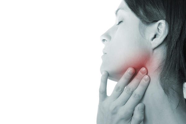 I am having swelling in my neck under the chin area n one symptom that can be related is I have very sensitive throat?