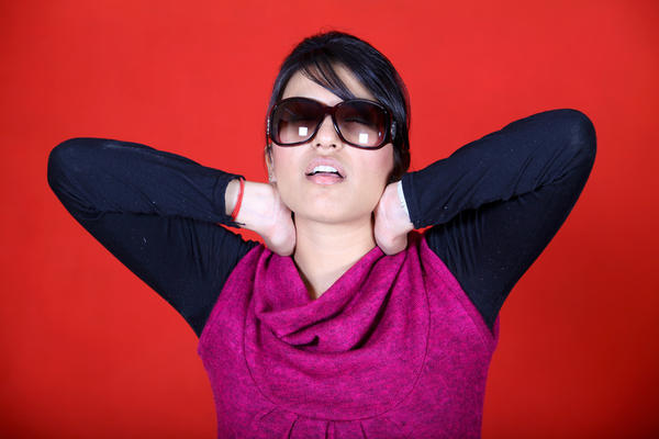What's usually recommended for getting rid of neck pain?