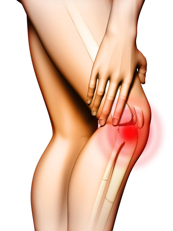 What could cause throbbing knee pain at rest or when you lay down at night?