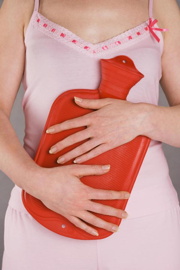 Lower abdomen left side heated feeling inside like heating pad had been applied?