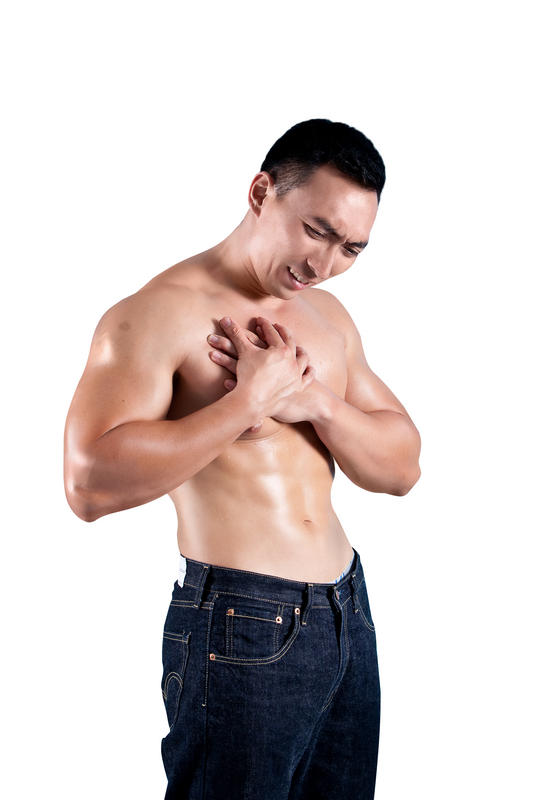 Pain in right side of chest for a week, sweating troubles breathing?