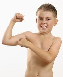 Flexing biceps to the point that it hurts stupid?