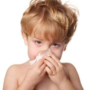 How can you ease an upper respiratory tract infection causing severe coughing and high fever in a two year old?