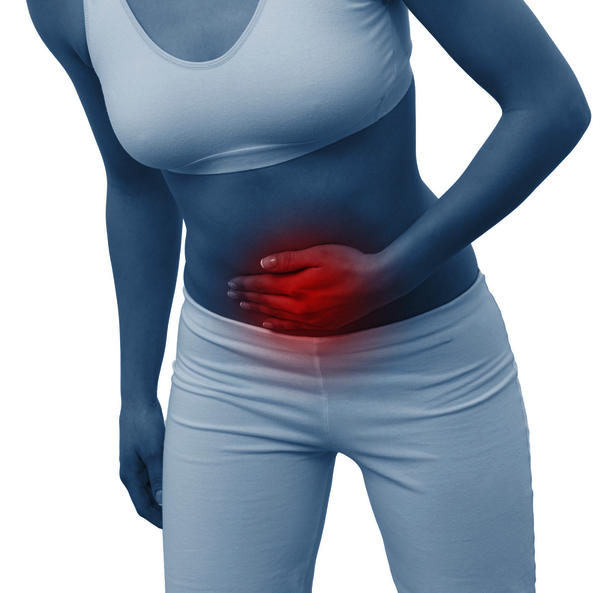 Feeling of bloating and problems urinating and abdominal pain. What is this an indication of?