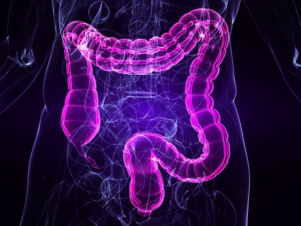 What could cause small streak of blood in bowel movement?