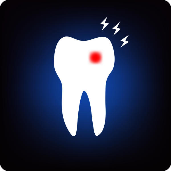 How can I treat a toothache after a temporary filling?