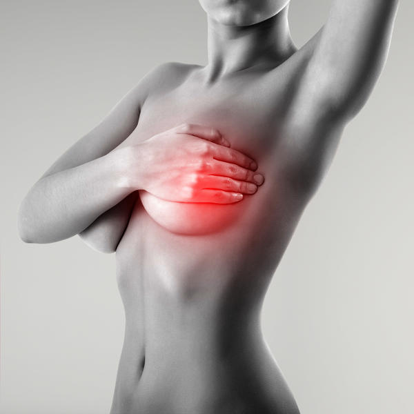 Pain under right arm in breast
