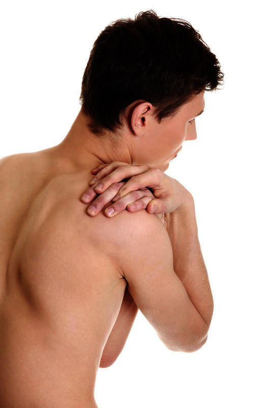 Pain behind shoulder blade when i move it or sneeze?