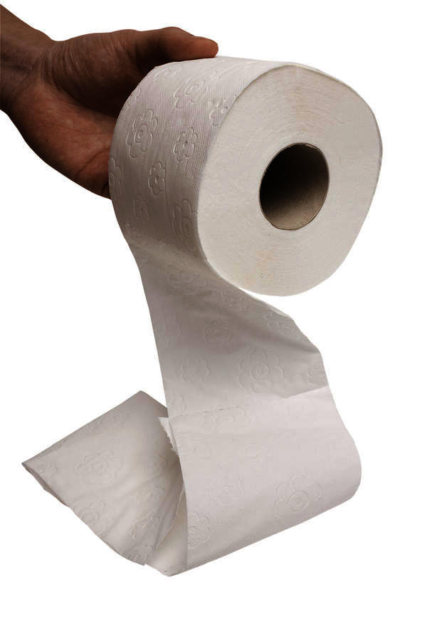 What does pinkish blood on the toilet paper after you poop mean?