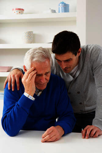What are the first noticeable signs, symptoms of dementia?