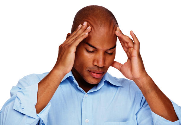What causes headaches with burning sensations, stiff neck, sharp pains, and nasuea?