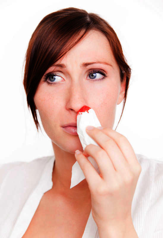 Why is my 5m old nose bleeding?