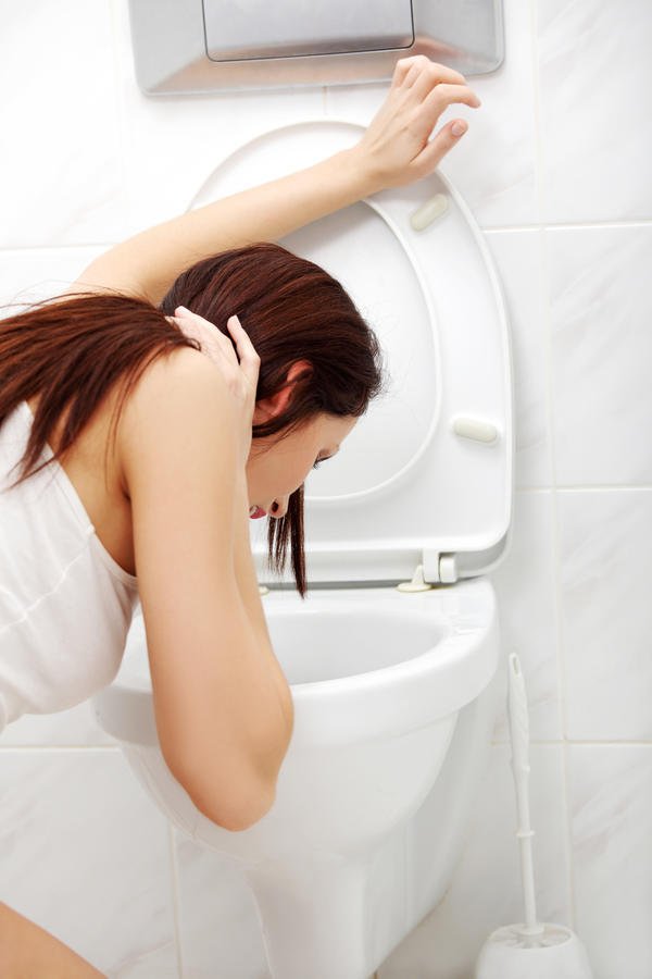 What is the cause of vomit smelling stool?