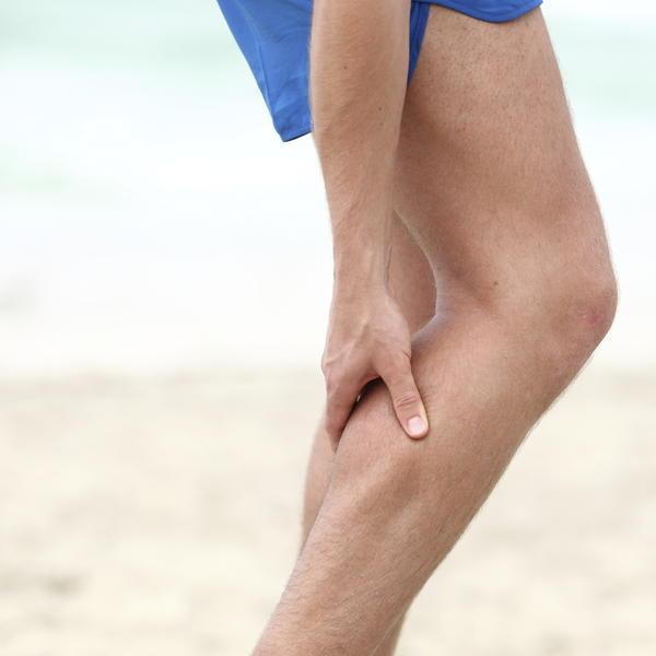 Does a calf cramp do damage to the calf?