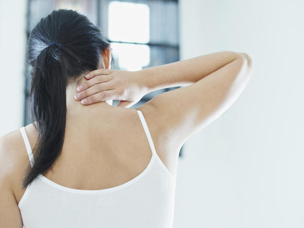 Late menses and a left shoulder blade pain -what could it be?