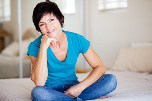 How can you stop mini periods after a partial hysterectomy?