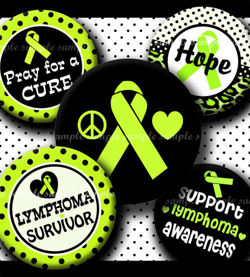Which color ribbon represents spleen cancer?