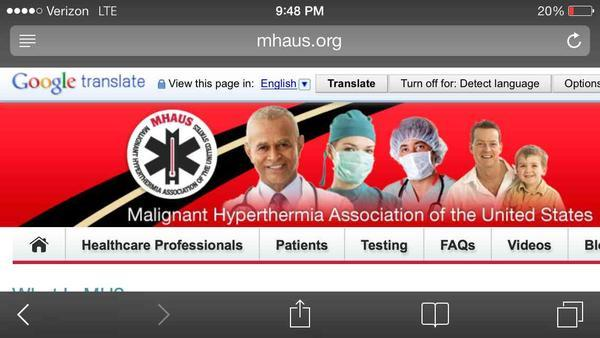 Could you explain what is malignant hyperthermia?