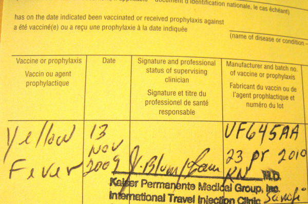 Got second dose since I forgot that I was vaccinated for yellow fever traveling to guatemala long ago?