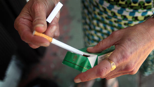 Does menthol cigarettes kill sperm cells?