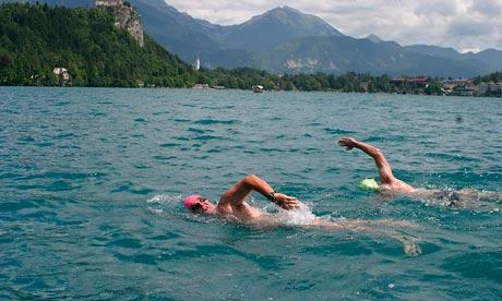 Should you swim in a lake with a abrasion?