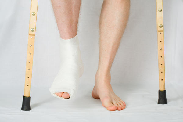 How do I ease pain caused by an old foot fracture?