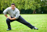 What types of stretches/exercises are good for relieving sciatica caused by a mild lower back muscle strain?