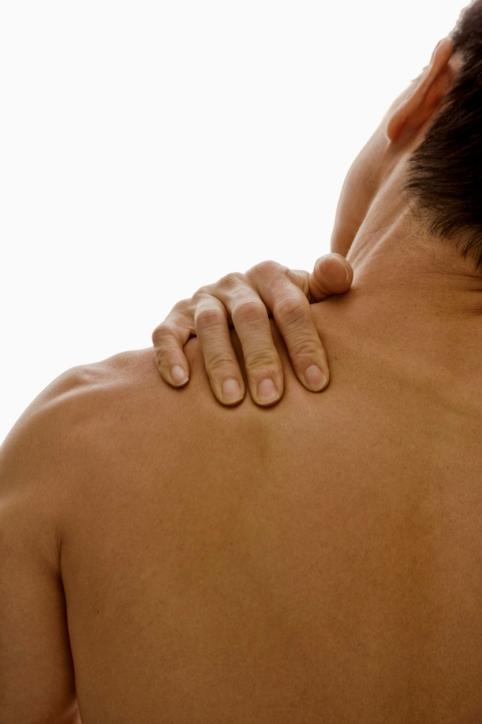 Help! I got a pain in my right shoulder blade when deep breathing?! What is wrong with me?