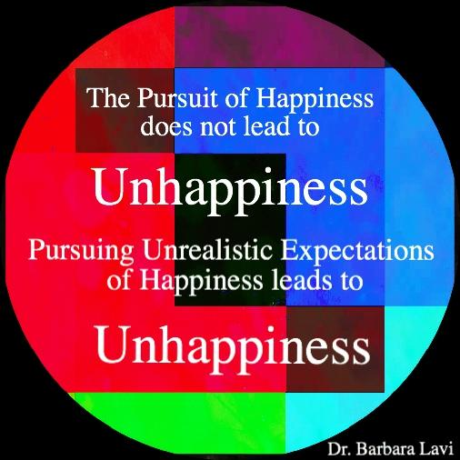 Do any docs think the pursuit of happiness brings about unhappiness?