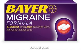 Please tell me, could Bayer migraine reduce swelling?