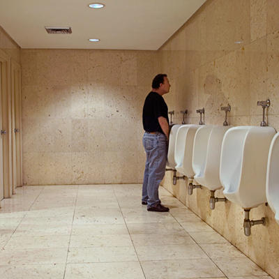 What is the maximum number of time an average man should urinate in a day?