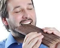 Can you tell me if a man consumes 2700 calories a day, 2000 from chocolate, why is he 42lb underweight?