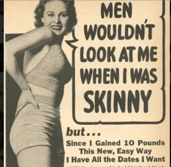 Why did people used to never go on diets?