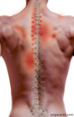 4 years have pain on back left of spine about at bra strap. Hurts to press on as in massage, to breathe deeply, and to curve back like a cat. concern?