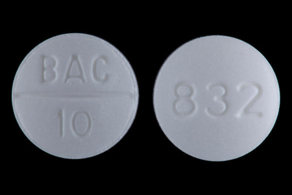 Is baclofen safer than anarex (painkiller+orphenadine)?