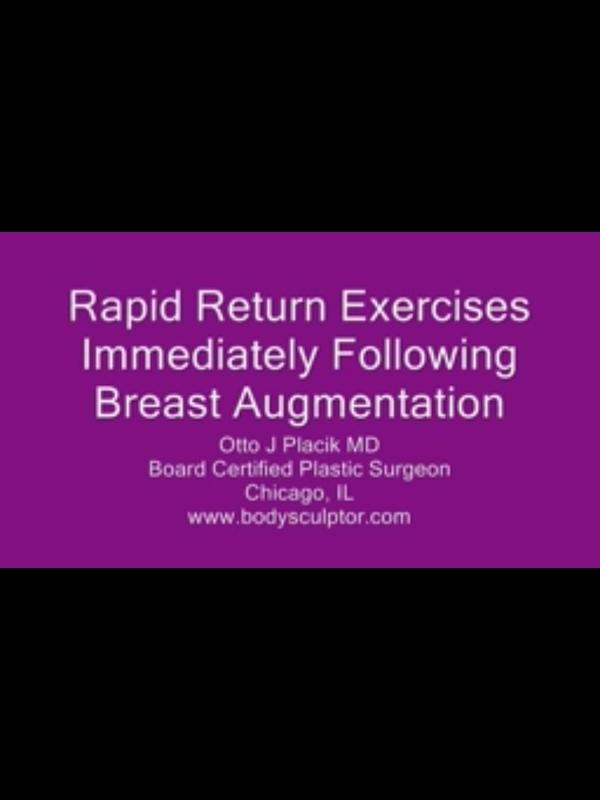 Any special treatment for day after breast augmentation surgery?