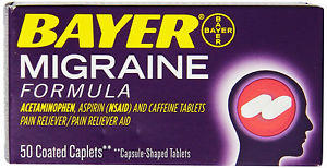 What side effects are commonly associated with Bayer (aspirin) migraine formula?