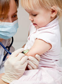 What vaccinations are given to 2-month-olds?