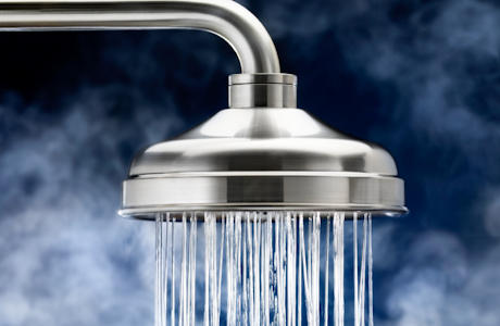 Can I relieve nasal congestion with a hot steamy shower?