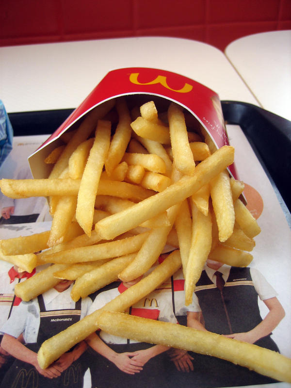 How to make your stomach feel better after eating large fries at mcdonald's ?