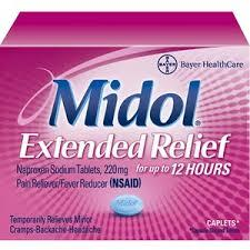 How long before my urinalysis do I need to take midol?